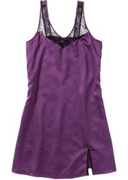 Chemise de nuit en satin, bpc bonprix collection, myrtille