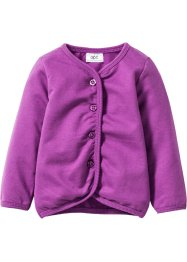Gilet sweat bébé en coton bio, bpc bonprix collection, pivoine