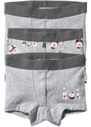 Lot de 3 boxers, bpc bonprix collection, gris clair chiné
