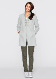 Manteau court - designed by Maite Kelly, bpc bonprix collection, gris clair chiné