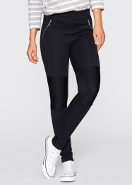 Legging style biker - designed by Maite Kelly, bpc bonprix collection, gris clair chiné