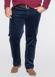 Pantalon en velours côtelé Regular Fit Straight, bpc selection, bleu foncé