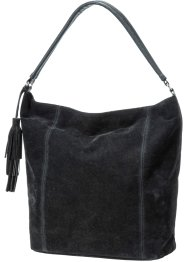 Sac à main synthétique imitation cuir daim, bpc bonprix collection, noir