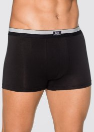 Lot de 3 boxers, bpc bonprix collection, noir/argent mat