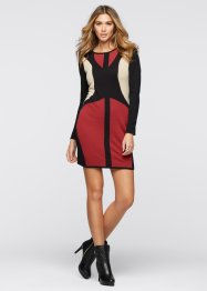 Robe en maille, BODYFLIRT boutique, rouge/noir