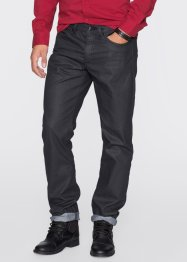 Jean Slim Fit Straight enduit, RAINBOW, noir