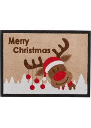 Tapis de protection Merry Christmas, bpc living, marron