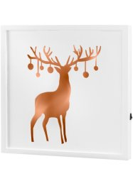 Tableau à LED Cerf, bpc living, gris bronze