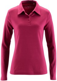 Polo manches longues, bpc bonprix collection, rouge baie