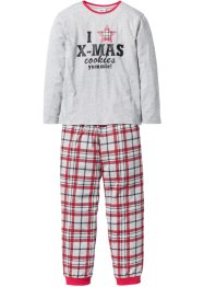 Pyjama enfant (Ens. 2 pces.), bpc bonprix collection, gris clair chiné
