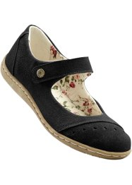 Ballerines en cuir, bpc selection, noir