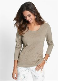 T-shirt manches longues, bpc selection, olive clair