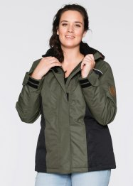 Veste outdoor fonctionnelle, bpc bonprix collection, olive foncé
