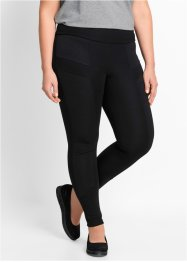 Legging Punto di Roma, bpc bonprix collection, noir