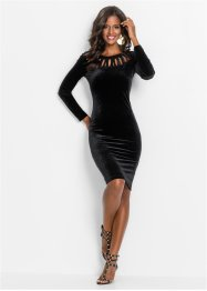 Robe en velours, BODYFLIRT boutique, noir