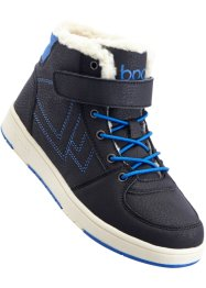 Baskets, bpc bonprix collection, noir/bleu azur