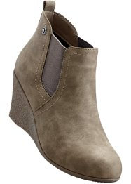 Bottines compensées, bpc bonprix collection, taupe