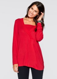T-shirt manches longues 2 en 1, bpc bonprix collection, rouge