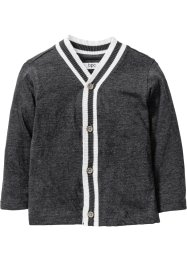 Gilet matière T-shirt, bpc bonprix collection, anthracite chiné