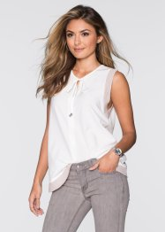 Top-blouse, BODYFLIRT, écru/beige