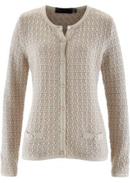 Gilet en maille, bpc selection, taupe/beige