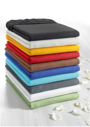 Drap-housse Jersey 40 cm, bpc living, anthracite