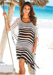 Tunique de plage, bpc selection, noir/blanc