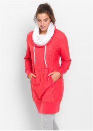 Robe sweat-shirt manches longues, bpc bonprix collection, fraise chiné