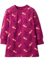 Robe sweat-shirt, bpc bonprix collection, violine imprimé