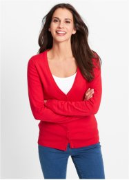 Gilet basique en maille, bpc bonprix collection, rouge
