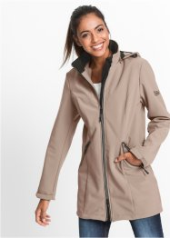 Veste softshell extensible à capuche, bpc bonprix collection, taupe