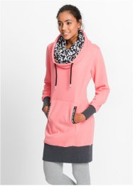Robe sweat-shirt manches longues, bpc bonprix collection, saumon fluo