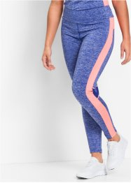 Pantalon running fonctionnel, long, bpc bonprix collection, bleu saphir/saumon fluo chiné