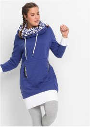 Robe sweat-shirt manches longues, bpc bonprix collection, bleu nuit
