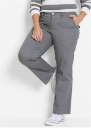 Pantalon cargo, bpc bonprix collection, gris fumée