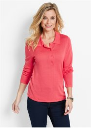 Pull col polo, bpc selection, fuchsia clair