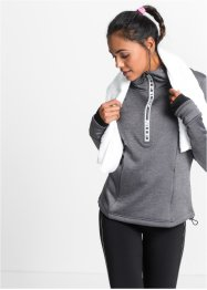 Sweat fonctionnel thermo-polaire, manches longues, bpc bonprix collection, gris ardoise