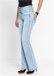 "Jean power stretch ""ventre jambes fessiers remodelés"" BOOTCUT, John Baner JEANSWEAR, bleu clair new"