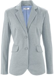 Blazer en jersey, bpc bonprix collection, gris chiné