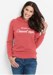 Sweat-shirt, bpc bonprix collection, corail imprimé