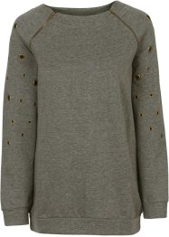 Sweat-shirt, BODYFLIRT boutique, olive foncé