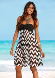 Robe de plage, bpc selection, noir/blanc