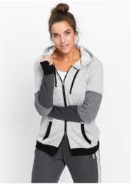 Veste sweat-shirt, manches longues, bpc bonprix collection, gris clair chiné