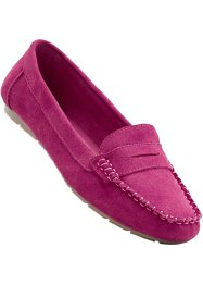 Mocassins en cuir, bpc selection, fuchsia