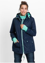 Manteau outdoor fonctionnel style 2en1, bpc bonprix collection, bleu foncé