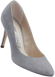 Escarpins en cuir velours, bpc selection, gris