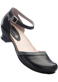 Escarpins en cuir confortables, bpc selection, noir