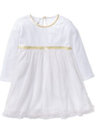 Robe d'ange, bpc bonprix collection, blanc/doré à paillettes