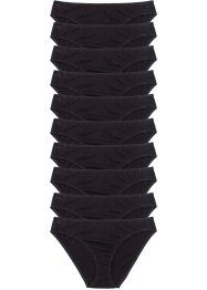 Lot de 10 slips, bpc bonprix collection, noir