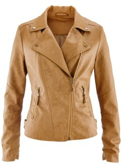 Veste en synthétique imitation cuir, bpc bonprix collection, cognac